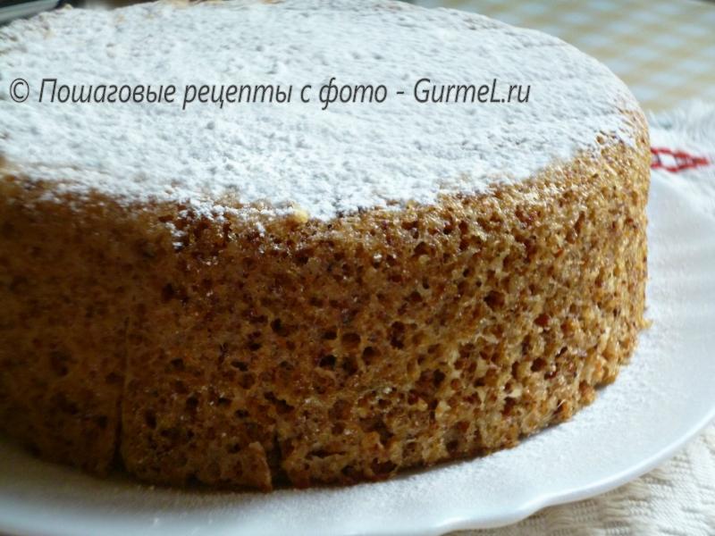 ореховый торт без муки рецепт